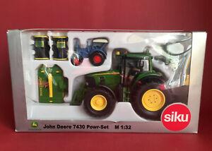 Siku 1/32 Agritechnica 2007 Special Edition John Deere 7430 Power Set MIB