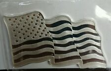 1 oz .999 silver American Flag unique wavy art bar old glory stars and stripes