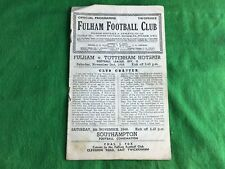 Fulham v Tottenham Hotspur November 2nd 1946 Football Porgramme RDL504
