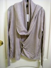 Full Circle - Pale Grey Cardigan and Scarf - Large