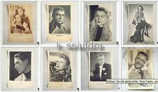 81 Film Star Postkarten ca 1940-44 Fotos teils Autogra Deutschland Hollywood Ufa
