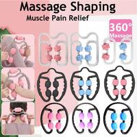 Muscle Relaxer Massage Roller Leg Clamp 4Wheels Waist Massage Stick Yoga Fitness