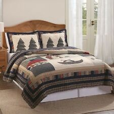 Northcrest Bear Lodge Full Queen Quilt Woodland