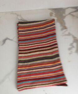 PAUL SMITH Signature Multi Stripe 100% Cashmere Reversible Scarf Winter