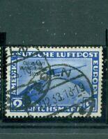 Deutsches Reich, Chikagofahrt Zeppelin über Weltkugel, Nr. 497 gestempelt