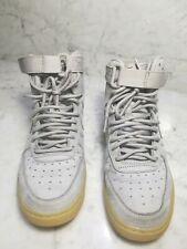 Nike Air force 1 Mid, () Grey With Gum Bottoms. SZ 5 y pre owned but nearly New