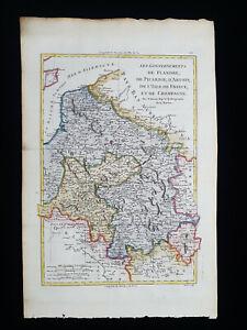1787 BONNE: FRANCE, GAULE, FLANDERS, PICARDY, CHAMPAGNE, BELGIUM, BELGIQUE...