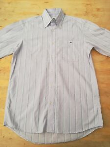 """Men's LACOSTE shirt Small chest 38"""" short sleeves 100% cot-ton chest pocket butt"""