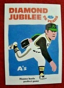 CATFISH HUNTER 1976 R. LAUGHLIN DIAMOND JUBILEE BASEBALL CARD - OAKLAND A's HOF