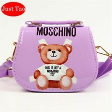 Child Girl *This is not a MOSCHINO Toy Text Teddy Bear Pouch Small Crossbody BAG