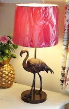 GRANDE 55cm rosa bronzo oro FLAMINGO Birds Ananas Tropicale Stile Lampada da tavolo
