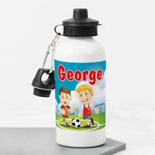 Personalised Football Soccer Boys 400ml Kids Children's Water Drinks Bottle