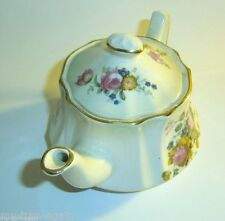 Vintage Royal Worcester Palissy England PetiteTeapot Tea Pot Pink Rose Flower