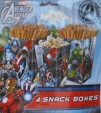 Party Snack Boxes AVENGERS ASSEMBLE Iron Man Hulk Treats Birthday Supplies 4 pk