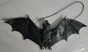 "15"" GIANT HANGING RUBBER BAT Black Fake Bird Jumbo Wings Halloween Prop Joke Toy"