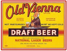 Old Vienna Style Draft Beer Label Chicago, ILL Refrigerator Magnet
