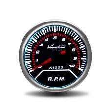 "Hiwowsport Car 2"" 52mm Tachometer Tacho Gauge White Digital LED 0~10000 RPM 12V"