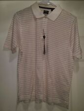 Callaway Golf NWTND Womens Beige/Red/Pink/Purple Striped Polo Shirt Top Size L