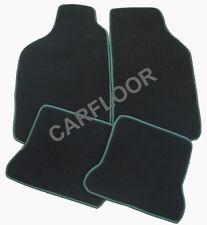 Peugeot 106 Bj. 1.92 - 6.00 Fußmatten Velours schwarz mit Rand grün