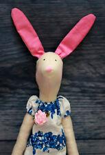 Handmade Tilda style Doll - Bunny in blue , Decoration, Present, Gift