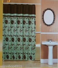"CABELLA PRINTED  FABRIC SHOWER CURTAIN  70""X 72""   NEW"