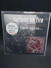 NATIONS ON FIRE Burn Again ltd ed. numbered colored vinyl hardcore punk 1992