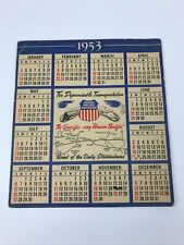 Vintage 1953 Union Pacific Railroad Advertising Calendar Card