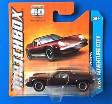 2013 Matchbox BURGUNDY 1972 LOTUS EUROPA SPECIAL UK sports coupe on short card!