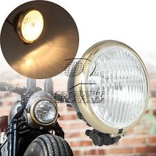 """5"""" Metal Black Hi/Low Beam Headlight Light For Harley Cafe Racer Bobber Chopper"""