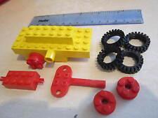 Lego Wind Up motor de relojería Amarillo Coche/Camión/Tren/Ferrocarril con X roja clave