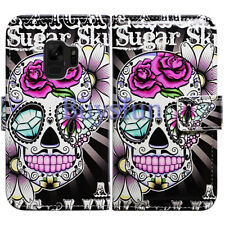 Bcov Purple Flower Sugar Skull Leather Cover Case For Samsung Galaxy S9 Plus/+
