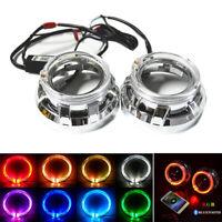 2Pcs Angel Eye 3.0'' HID Bi-xenon Projector Lens Car Headlight Retrofit H1 H4 H7