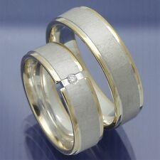 Trauringe Eheringe Hochzeitsringe Verlobungsringe Silber Gold - P9159223