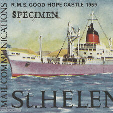 Saint Helena 1969 (Specimen) Mail Communications set on hand-drawn display card