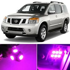 16 x Premium Hot Pink LED Lights Interior Package Kit for Nissan Armada