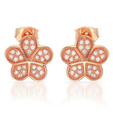 Attractive Stud  Earrings With Cubic zirconia in 14K/925 Gold plated Silver