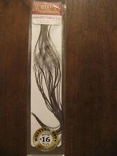 Fly Tying Whiting 100's Saddle Hackle Dark dyed Dun sz#16