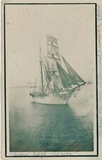 Antique REAL PHOTO POSTCARD c1907-10 School Ship Boyer Boxer by John Sannard