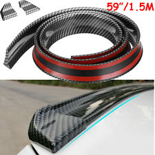 59 Car Rear Wing Lip Spoiler 3d Carbon Fiber Tail Trunk Roof Trim Sticker Decor Fits Toyota Yaris