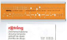 Rotring Zeichenschablone Schweißen, Schweißsymbole, 850631