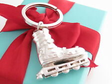 Tiffany & Co Silver Roller Blade Skate Keychain Keyring Ring Packaging Box Pouch