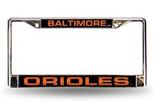 Baltimore Orioles Laser Chrome Metal Auto License Plate Frame MLB