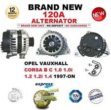 Para Opel Vauxhall Corsa B C 1.0 1.0i 1.2 1.2i 1.4 1997-ON nuevo 120A Alternador