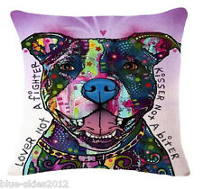 STAFFY Pit Bull Terrier Lover Kisser DOG New LINEN-COTTON CUSHION COVER, UK Sale