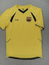 FC Barcelona Stitched Short Sleeve Replica Soccer Jersey (Adult Small) Yellow