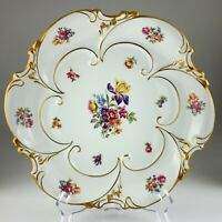 "Jlmenau Graf Von Henneberg Germany Charger Serving Dish Plate Chipped 12"" U334"