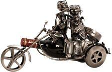 Flaschenhalter Paar auf Motorrad Metall 37 cm Flaschenständer Weinhalter