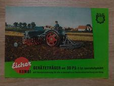 Original Eicher Traktor Kombi Geräteträger 30PS Prospekt