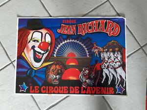 AFFICHE magasin Circus Zirkus Circo Cirque JEAN RICHARD
