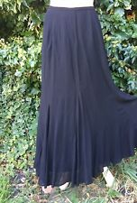 Caroline Charles Studio Black Crepe Victorian Steampunk Skirt Size 10
